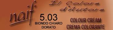 NAIF N°5.03 CASTANO CHIARO DORATO